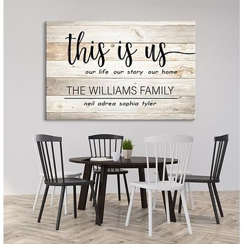 Custom House Wall Art Sign Canvas Print Personalized House Gift