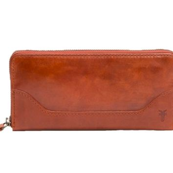 Frye Melissa Zip Wallet Red Clay
