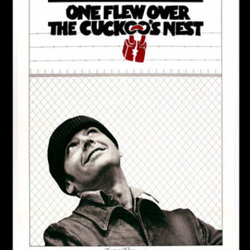 ONE FLEW OVER THE CUCKOO'S NEST movie poster JACK NICHOLSON antics 24X36 -PW0