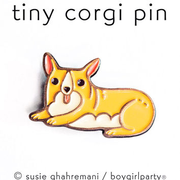 Corgi Pin Corgi Enamel Lapel Pin Dog Pin by boygirlparty