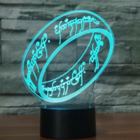 THE LORD OF THE RINGS 3D Lamp 8 Changeable Colors big size [FREE SHIPPING]