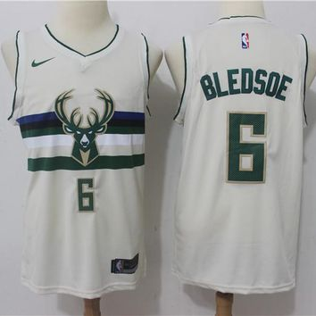Milwaukee Bucks 6 Eric Bledsoe City Edition Swingman Jersey
