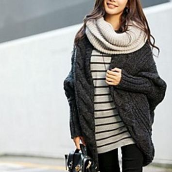 Women's Casual Fashion Cape Sleeve Sweater (More Color)   LightInTheBox