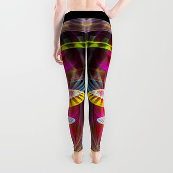 Alien sphere fractal fantasy Leggings by Natalia Bykova