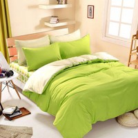 1pcs Cotton Blend Duvet Cover Solid Color Comforter Cover Duble Side Can Be Used Twin Full Queen King Size