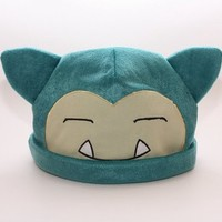 Pokemon Snorlax Cosplay Soft Cute Plush Toy Cap Warm Soft Hat