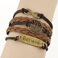 Boho Multilayer Charm Leather Bracelet