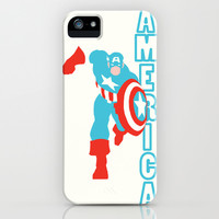 Captain America iPhone & iPod Case by Young Jake