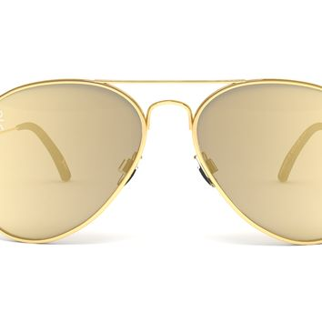 Jetsetter Aviator - BALI- Gold / Gold Mirrored Lens 58mm