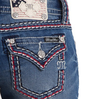 Miss Me Bootcut Jeans with Americana Thick Stitch JS5014SB162-MED323