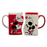 Mickey and Minnie Mouse Interlocking Mug - Red