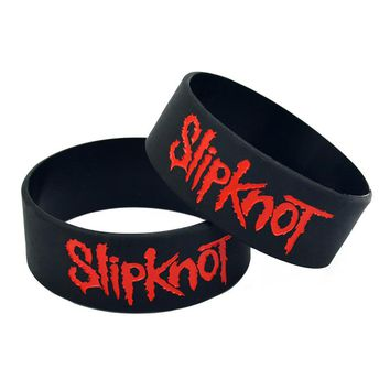 Slipknot Wristband Rubber Silicone Bracelet Cuff Punk Rock Rubber Band Power Men Bracelets Fashion Jewelry Gifts