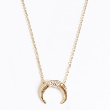 Diamond Bull Horn Choker Gold