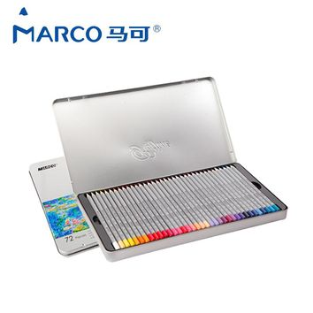 Marco Pen Watercolor Pencils Lovely Stationery Creative School Supplies Charcoal Sketch Sets of Colored Pencils Birthday Gift