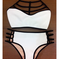 Summer Style Bikinis High Waist Halter Neck Swimsuit