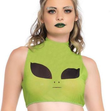 DCCKLP2 Women's Alien Crop Top