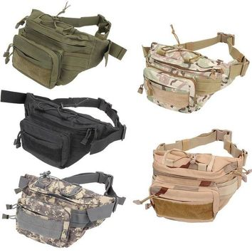 DCCK7N3 Unisex Utility Tactical Waist Pack Canvas Waist Packs Belt Bags Pouch Military Camping Hiking Running Sports Outdoor Bag BHU2