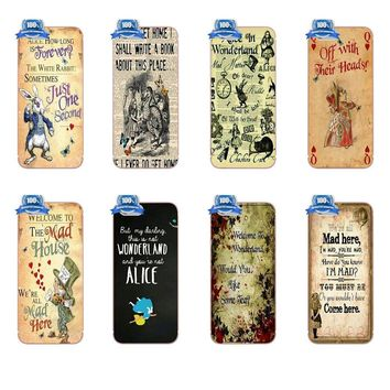 For Apple iPhone 4 4S 5 5C SE 6 6S 7 8 Plus X Galaxy Grand Core II Prime Alpha TPU Case Alice In The Wonderland We Are All Mad