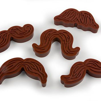 Fred MUNCHSTACHE Cookie Cutter/Stamper, Set of 5