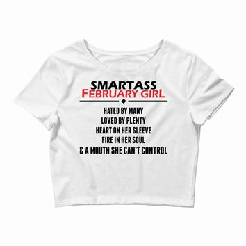 Smartass February Girl Crop Top