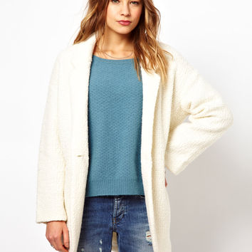 By Zoe Teddy Fur Knitted Cardi-Coat