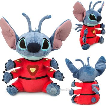 "Licensed cool Disney Store Hawaii Lilo & Stitch in Spacesuit 4 arm Alien 16"" Plush Toy Doll"