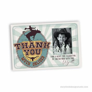Rodeo Birthday Party Thank You Cards