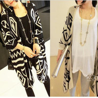 KCLOTH Knit Blazer With Zigzag Pattern K1308