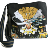 Green Day Bag Dookie Crossbody Upcycled Tshirt Purse