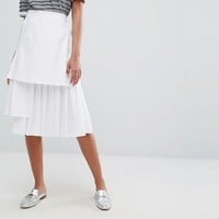 Lost Ink Pleated Skirt at asos.com