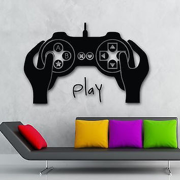 Wall Sticker Vinyl Decal Video Game Joystick Gamer Cool Kids Room Decor (ig1963)
