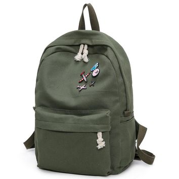 2108 Back To School Canvas Backpack/Casual Fabric