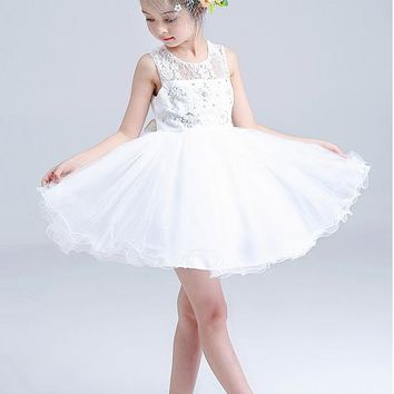 [17.99] In Stock Attractive Lace & Tulle Scoop Neckline Ball Gown Flower Girl Dresses With Beads - dressilyme.com