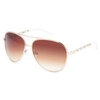 Full Tilt Chain Temple Sunglasses Gold One Size For Women 23296962101