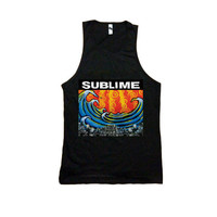 Sublime Black Unisex Tank Top Black Cool Band Shirt