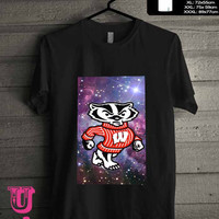 Wisconsin Badgers in galaxy 2 T-Shirt for man shirt, woman shirt **