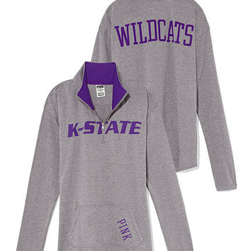 Kansas State Raw Half-zip Pullover - PINK - Victoria's Secret