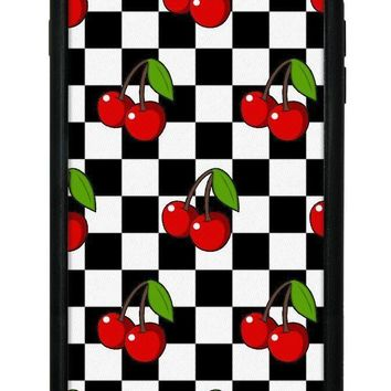 cherry checkers iphone 6 7 8 plus case  number 1