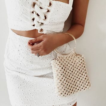 Mini Macrame Ring Bag - Bags by Sabo Skirt
