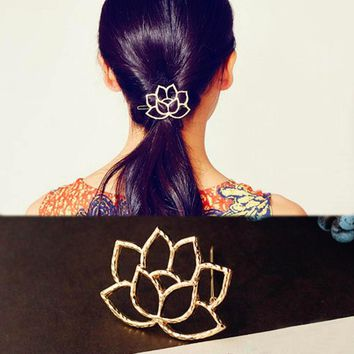 1Pcs 2017 brand hair accessories for women steel Gold  Hair Clips Girls Hairpin ladies flower Hair Accessories