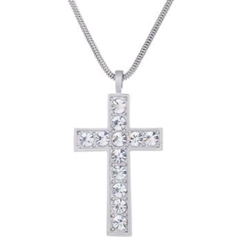 Luminous Cross by Annaleece Swarovski Crystal Necklace