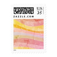 Colorful Stripes Postage