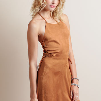 Calico Saloon Faux Suede Dress