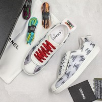 Pharrell x CC CoCo With Full Logo Print Sneakers White - Best Online Sale