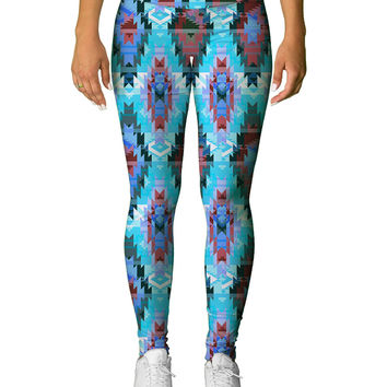 Aztec Blue Leggings