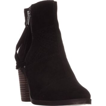 Lucky Brand Ramses Ankle Boots, Black Suede, 7 US / 37 EU