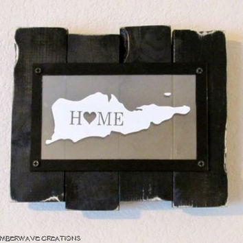 Home State Sign Handmade Wood Island Pride Sign Custom State Sign St. Croix US Virgin Islands