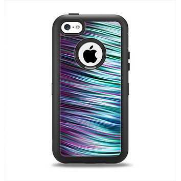 The Pink & Blue Vector Swirly HD Strands Apple iPhone 5c Otterbox Defender Case Skin Set