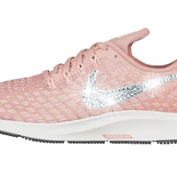 Women's Nike Air Zoom Pegasus 35 + Crystals - Rust Pink/Tropical Pink/Guava Ice/Pink Tint