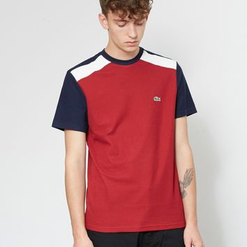 Lacoste Colour Block T-Shirt Red, White & Navy